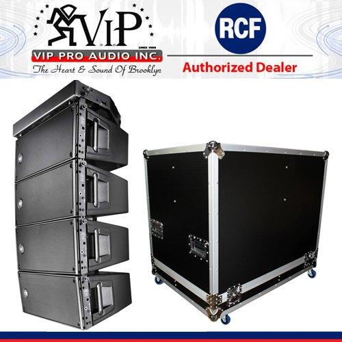 4x RCF HDL 20-A Active Line Array Speaker Module + X-RCF-HDL20AX4W Flight Case Rcf Line Array
