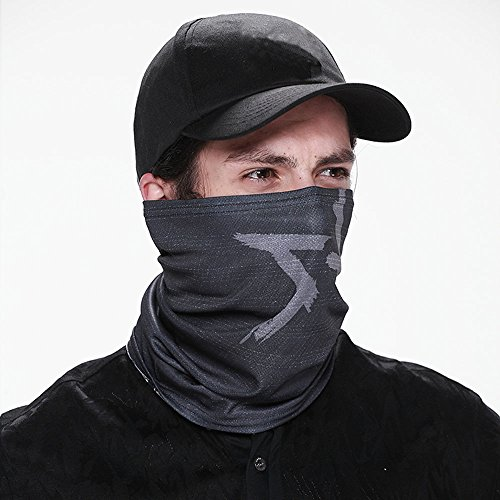 ZZoo WD Game Aiden Pearce Face Tube Mask Warmer Scarf Baseball Hat Cosplay Costume (Mask) -