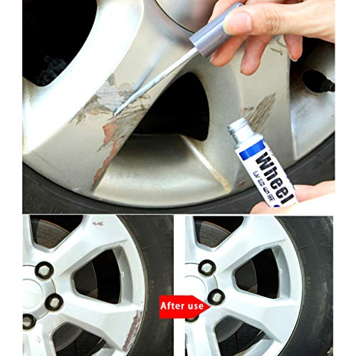 Automotive High Performance Wheel Paint, Car Wheel Scratch Repair Pen Silver