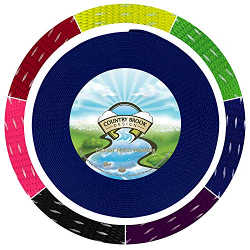 - Country Brook Design 1 Inch Royal Blue Climbing Spec Tubular Nylon Webbing, 1.