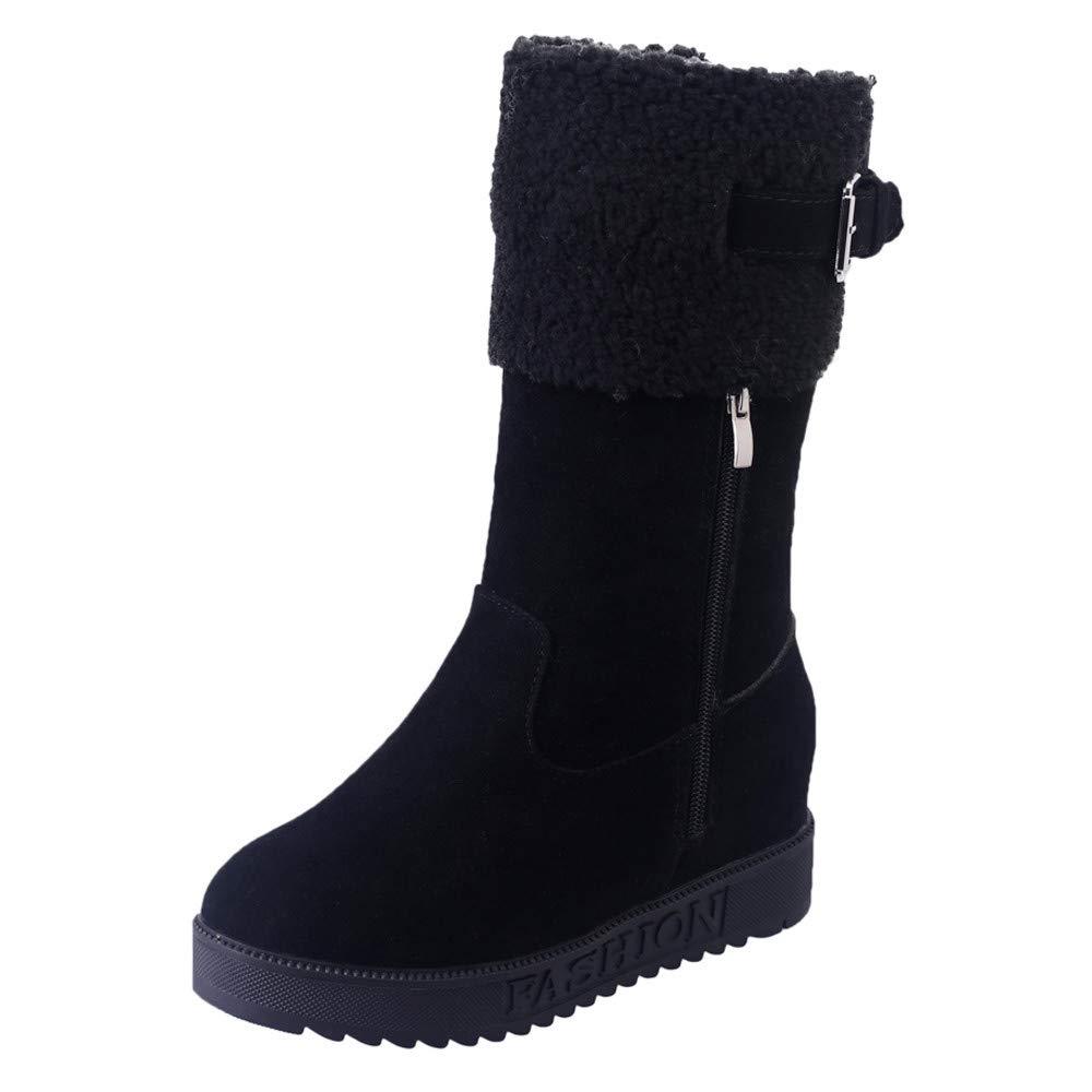 Botines cuña de mujer OtoñO Invierno,ZARLLE Moda Botas de Nieve Mujer Botines de mujer zapatos de nieve cálida Botas de plataforma Zapatos de tacón ...