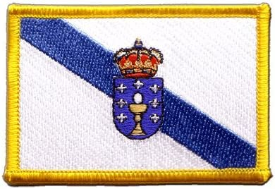 Digni®-Sticker- Parche planchable, diseño de bandera de Galicia, España, incluye etiqueta.: Amazon.es: Hogar