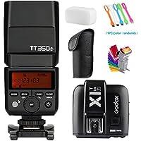 Godox TT350F 2.4G High-Speed Sync 1/8000s TTL GN36 Camera Flash Speedlite light + Godox X1T-F Wireless Trigger Transmitter for Fuji Cameras +Filters & USB LED Free Gift