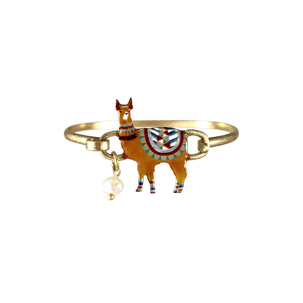 Wonderent Brown Llama Summer Fashion Bangle Bracelet