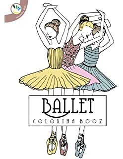 Ballerina Coloring Book Relaxing Coloring Pages for Adults and