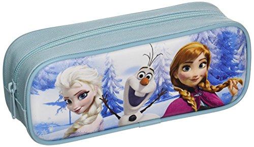 (Disney Frozen Pencil Case with Stationery Set - Light Blue)