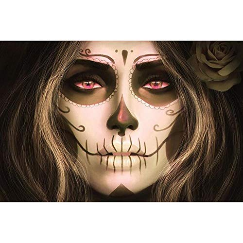 Adults Wooden Jigsaw Puzzle 1000 Pieces Skull Woman