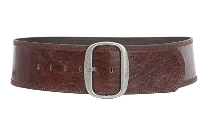 A History of Belts 1920-1960 Womens 3 (75 mm) Wide Oval Tone-on-tone Stitching Edged Contour Belt $26.26 AT vintagedancer.com