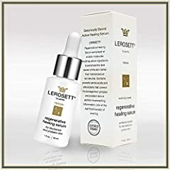 Product Overview LEROSETT Regenerative Healing Serum is a highly concentrated serum. Helps to moisturize, heal, and aids in scarring, redness, and swelling. With high levels of collagen, elastin, and revitalin. Plus all the benefits our uniqu...