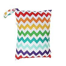 WINOMO Infant Diaper Bag Waterproof Resuable Wet Dry Bag Baby Cloth Nappy Bag