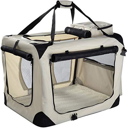 MOOL – Caja de Transporte de Mascotas de Tela Ligera con Alfombrilla de Forro Polar y Bolsa de Alimentos