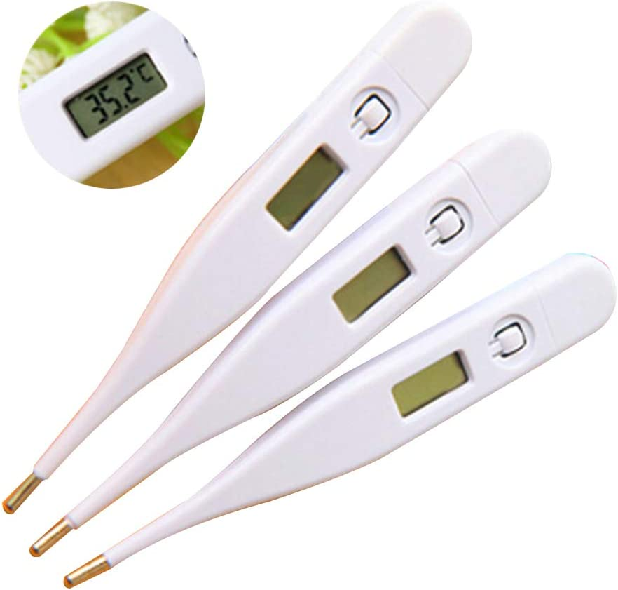 Bluelans Digital Thermometer Baby Thermometer Ear Thermometer Child Adult Kids Digital Thermometer LCD Screen Temperature Measurement for Fever Home Family Tool Random Color
