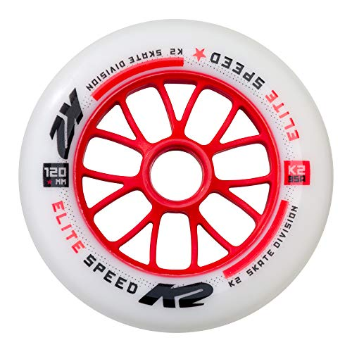 K2 Skate Elite 1 Each Wheels, 120mm, (Elite In Line Skates)