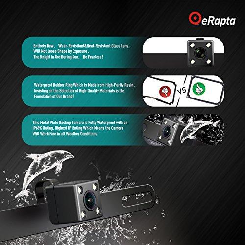 eRapta ERT3 2nd Generation Rear Reversing Backup 149°Perfect View Angle Design 4 LED Lights Night Vision 9 Level Waterproof Car Dash Security Sensor Back up Camera by eRapta (Image #2)
