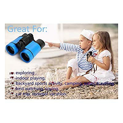 Scotamalone Kid Binoculars Shock Proof Toy Binoculars Set - Bird Watching - Educational Learning - Hunting - Hiking - Birthday Presents -Gifts for Children (color2): Toys & Games
