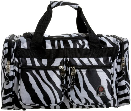 Rockland Luggage 19 Inch Tote Bag, Zebra, One Size