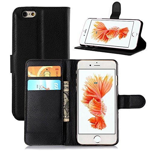 ihpone 6 Case,Hankuke Art Graphic PU Leather Magnet Flip Case with Kickstand and Card Holder for iPhone 6 (4.7-Inch) (black)
