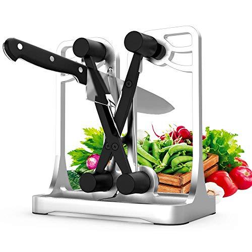 (Knife Sharpener, Kitchen Knife Sharpener Hones Polishes Serrated Beveled Blades Broad and Chef's Knives.Bavarian Type Knife Sharpener Professional Knife Sharpeners- Full Metal Bracket(Upgrade Version))
