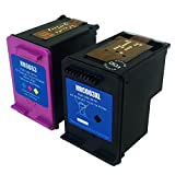 Precise Point Remanufactured Ink Cartridge Replacement for HP 63XL with Ink Level Display F6U61AN F6U62AN F6U63AN F6U64AN L0R46AN (Black + Tri-Color), 2-Pack