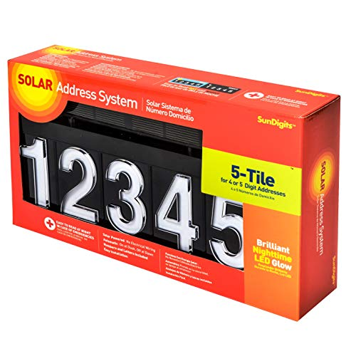 (Sundigits 5 Digit Solar Led House Number)