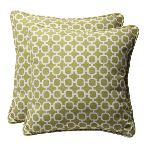 Pillow Perfect Decorative Geometric Square Toss Pillows, 18-1/2