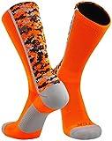 TCK Sports Digital Camo Crew Socks, Neon Orange, Small