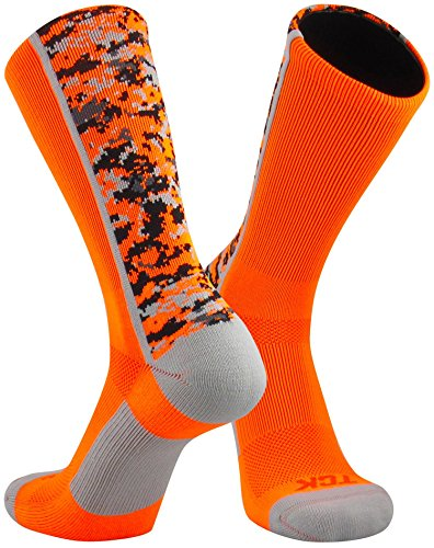 amo Crew Socks (Neon Orange, Large) (Camo Hunting Clothes)