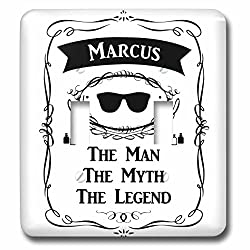 InspirationzStore The Man The Myth The Legend - Marcus - The Man The Myth The Legend - personal name personalized gift - Light Switch Covers - double toggle switch (lsp_232330_2)