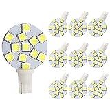 GRV T10 921 194 12-5050 SMD LED Bulb lamp Super Bright Cool White AC/DC 12V -28V Pack of 10