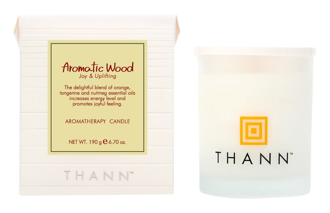 Thann Aromatic Wood Aromatherapy Candle, SPA Romantic wedding Creative birthday Home Fragrance Gifts