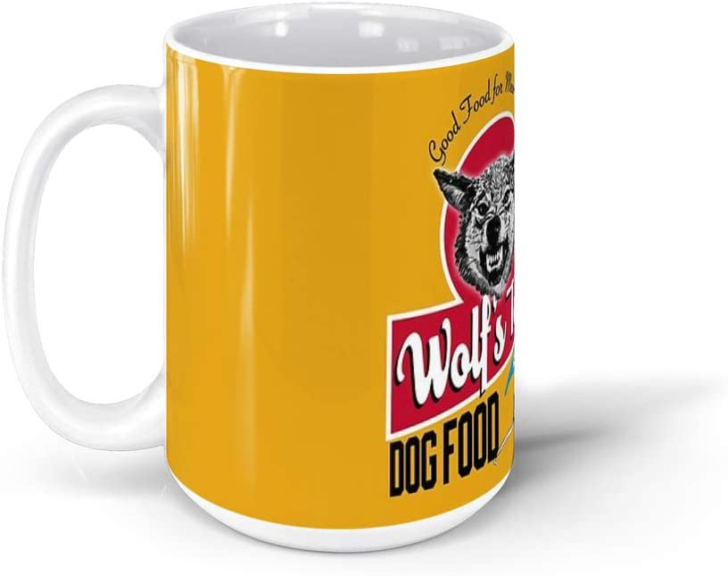 calanaram once upon a time in hollywood Wolf's Tooth Dog Food 15Oz Ceramic Coffee Mugs 8901685121749