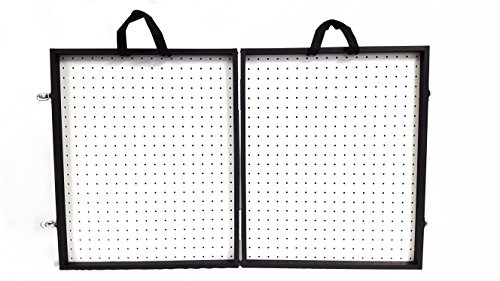 "Playwin 3 3/4"" Thick Folding Pegboard Display Suitcase"