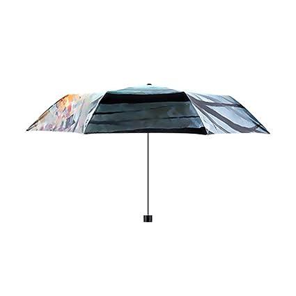 Paraguas viaje bolsillo plegable Auto Abrir Cerrar Al aire libre a prueba de viento anti UV