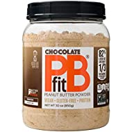 PBfit All-Natural Chocolate Peanut Butter Powder 30 Ounce, Chocolate and Peanut Butter Powder from Real Roasted Pressed Peanuts and Cocoa, Low in Fat High in Protein, Natural Ingredients