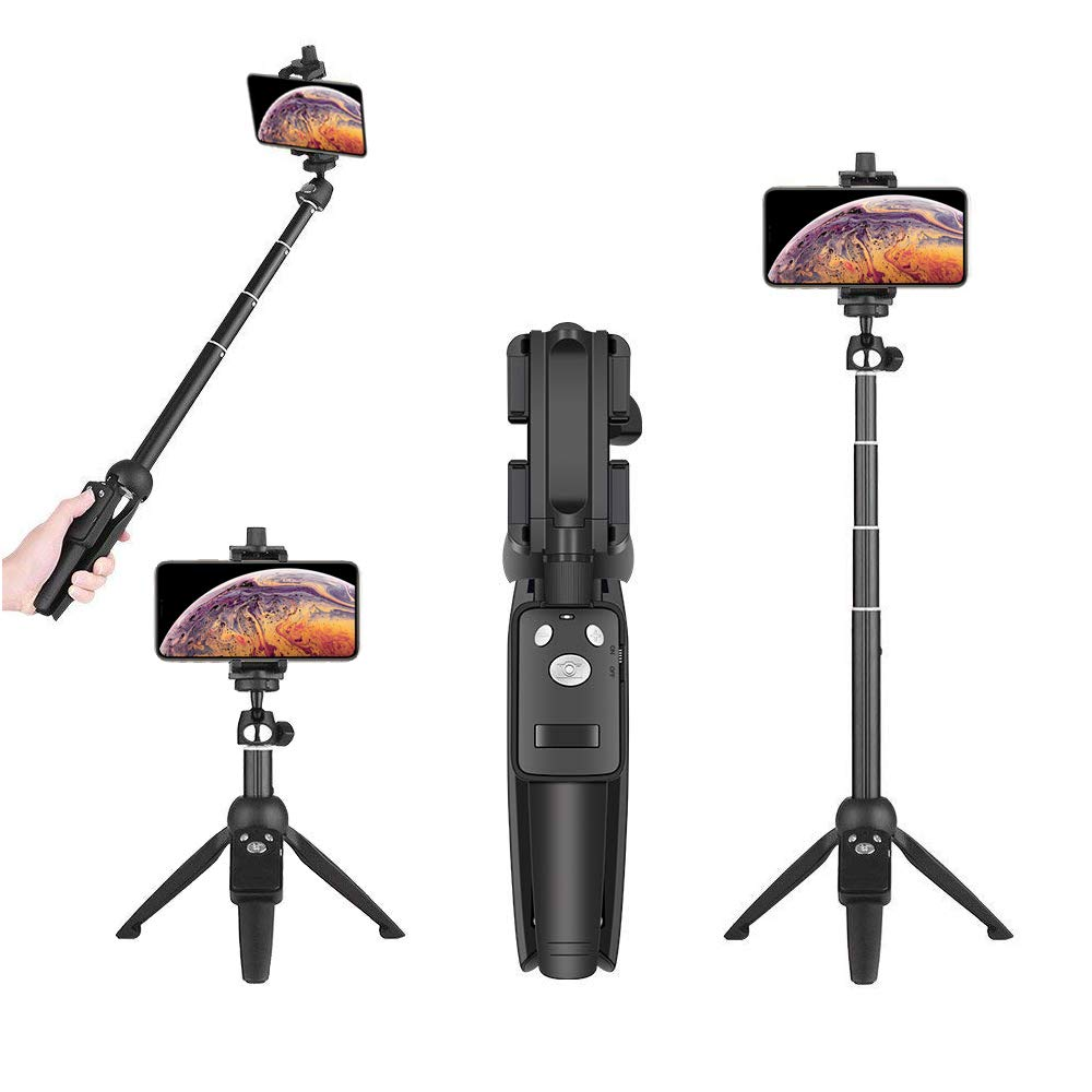 Wevon Selfie Stick Tripod, 40 inch Extendable Phone Tripod with Wireless Remote Compatible with iPhone Xs Max Xr X 8 7 Plus, Android, Samsung Galaxy S10 S9 S8 Plus Note 8, Huawei and More by Wevon