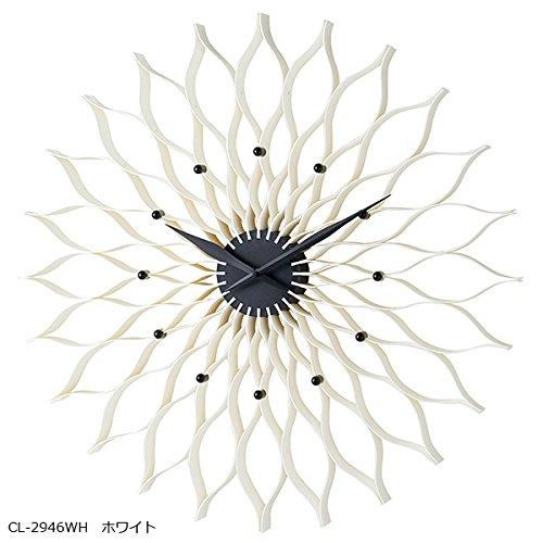 壁掛け時計 Fioritura フィオリトゥーラ CL-2946WH ホワイト B077P9WC9F