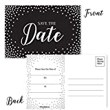 50 Save The Date Postcards - 4'' x 6'' Postcards - Wedding, Baby Shower, Birthdays, Celebration Announcements (Dots)