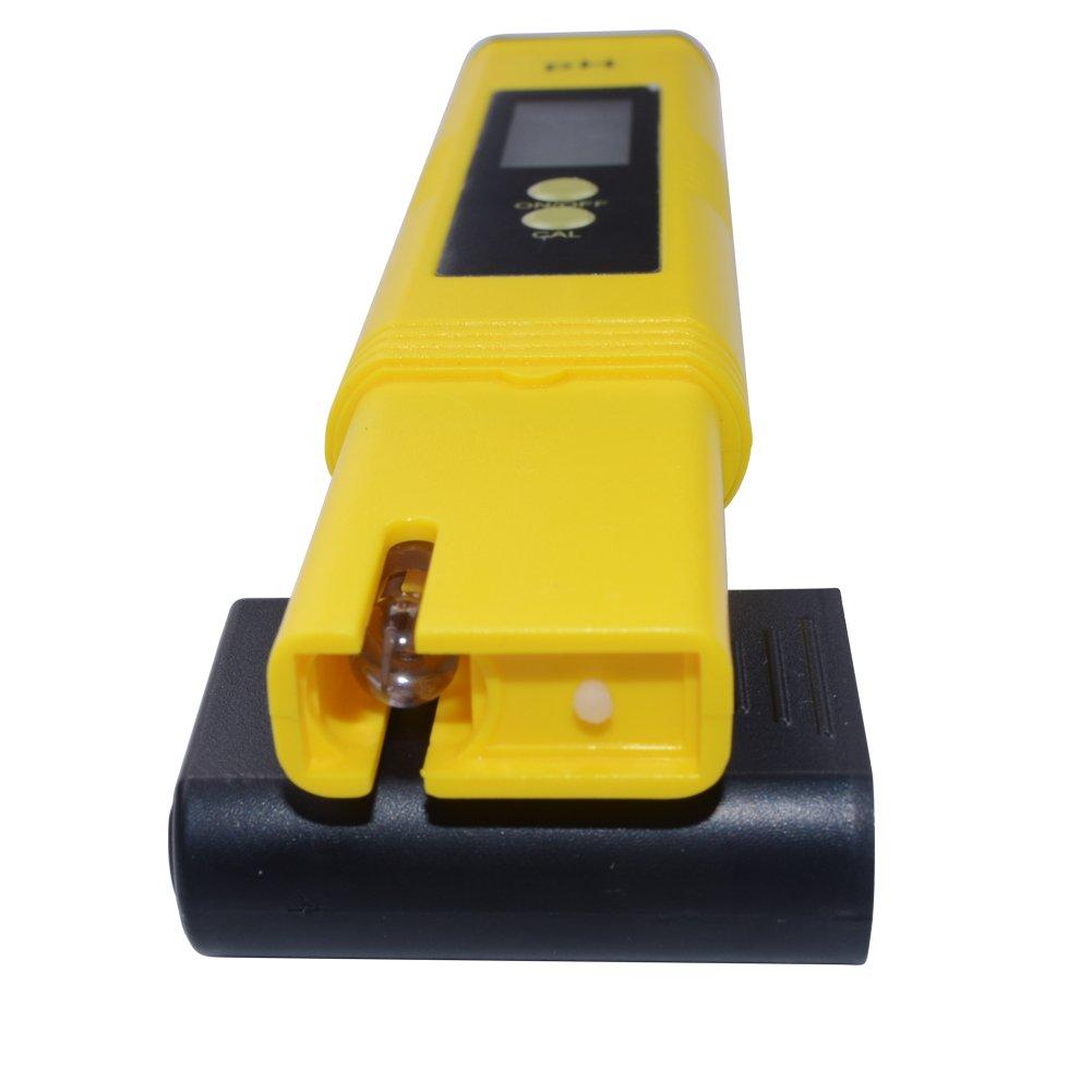 RCYAGO LCD Port/átil Digital Medidor PH Pluma de Probador Acuario Piscina Agua Vino Orina