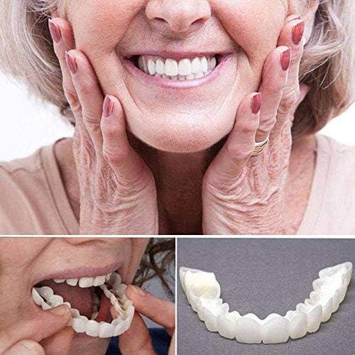 HLSG Emporäre Lächeln Comfort Fit Kosmetische Zähne Prothese Zähne Top Cosmetic 1pair