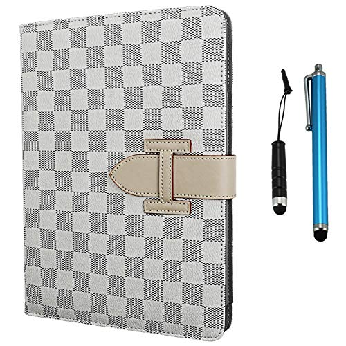 Cellular360 Classic Hand Grip / Stand Case for iPad 9.7, iPad 5th Gen., iPad 6th Gen., iPad Air 1 (2013) / iPad Air 2 (2014) with Credit Card Slot and Sleep/Wake Function (White) (Lv Ipad 3 Case)