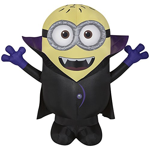Airblown Despicable Me 3.5-ft x 3.93-ft Lighted Minion Halloween Inflatable]()