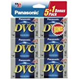 Panasonic Mini-DV Videocassette One Box of 5+1 Extra