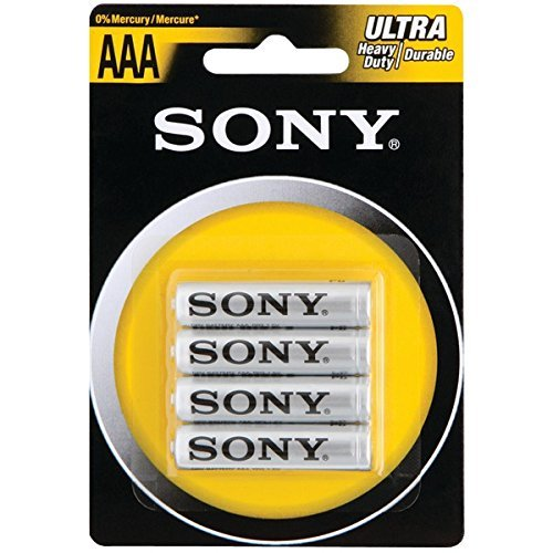 Heavy Duty Aaa Batteries (Sony Heavy-Duty Carbon Zinc Batteries (Aaa; 4 Pk)