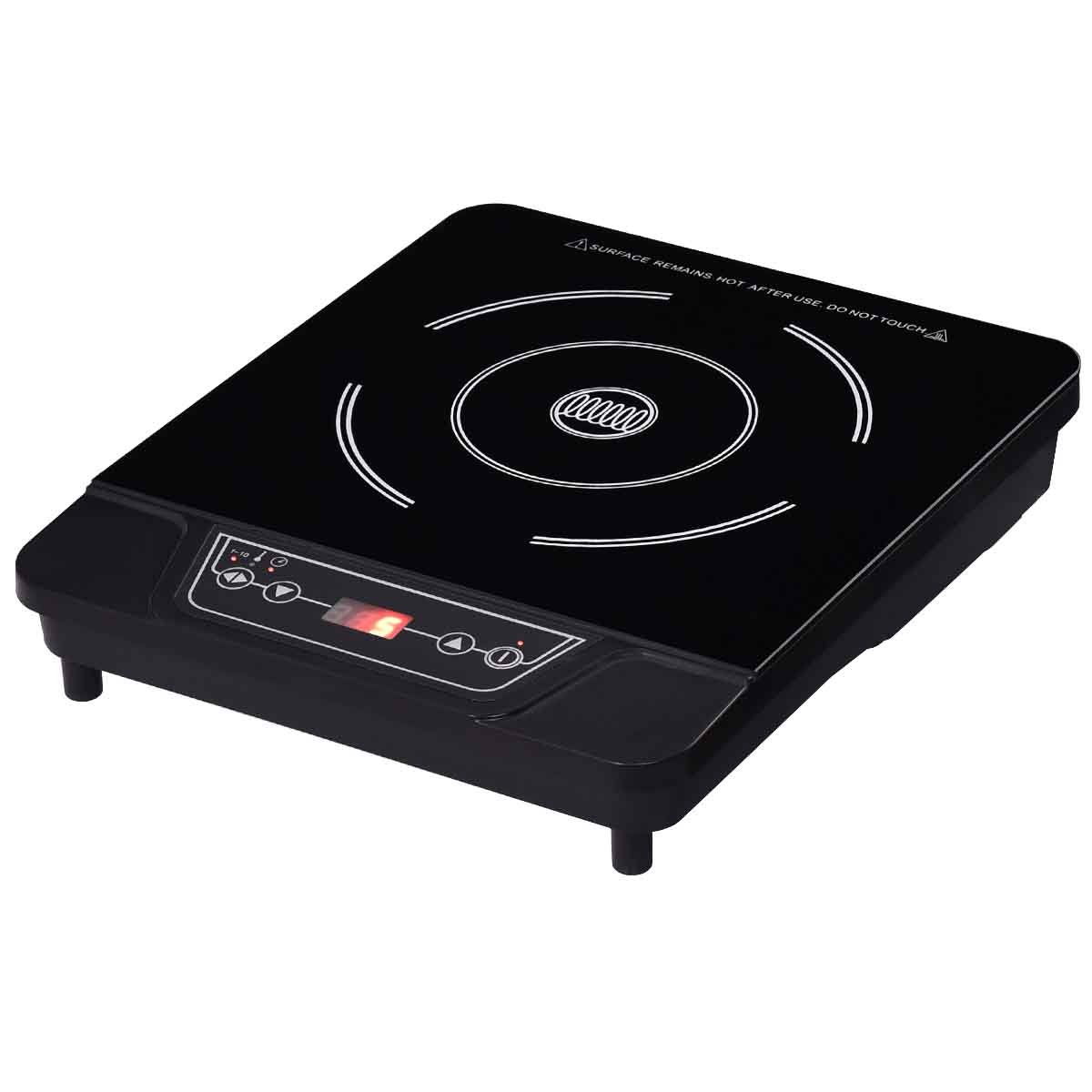 Safeplus Single Electric Cooker 1800W Portable Induction Cooktop Countertop Burner (Black)