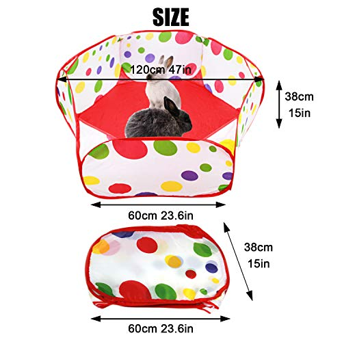 S-Mechanic Small Animals Playpen, Breathable Pop Pet Playpen Portable Outdoor/Indoor Exercise Fence for Hamster, Rabbits, Guinea Pig, Chinchillas, Hedgehogs, Puppy, Kitten (Pink)