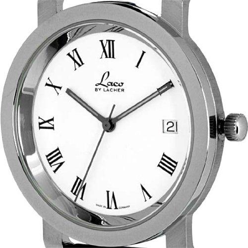 Laco by Lacher u6070eb - Reloj de pulsera hombre, piel, color negro