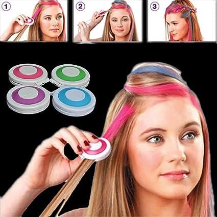 clifcragrocl tinte pelo,4pcs moda Navidad bricolaje temporal Wash-Out Tinte pelo tiza pastel pulverulento