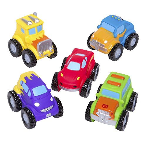 (Elegant Baby Squirtie Bath Toys Party Squirties, One Size, Monster Truck Party )