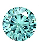 Beautiful 2.79 Ct Fancy Dark Greenish Color Round Cut SI1 Clarity Loose Moissanite