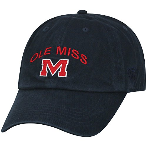 Top of the World Mississippi Old Miss Rebels Men's Hat Arch, Navy, Adjustable]()